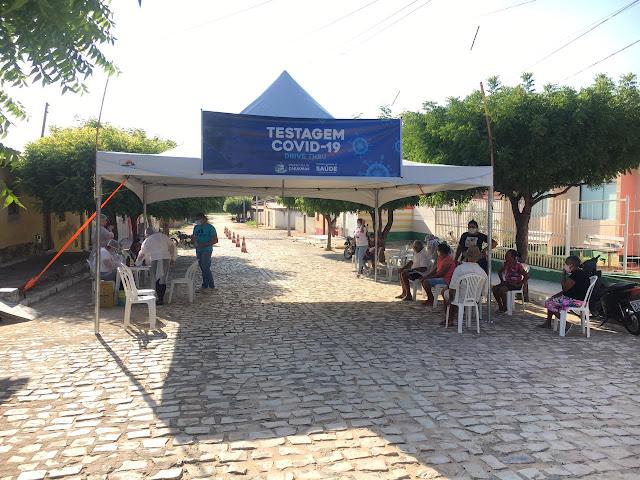 Secretaria de Saúde divulga números da testagem Drive-Thru no Leandro Bezerra em Caraúbas, RN