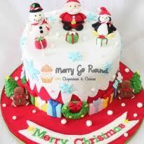 Topper showing Santa and kids celebrating together