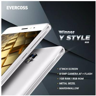 Cara Flashing Evercoss R5D Winner Y Style Via Upgrade Download