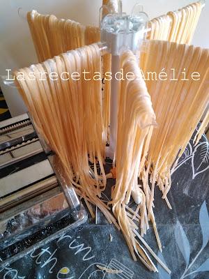 pasta, fresca, casera