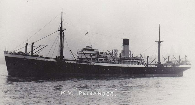 MV Peisander, sunk on 17 May 1942 worldwartwo.filminspector.com