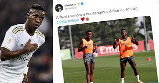 Pictures: Vinicius Jr shares training photo with Militao ahead of return to action with caption non stop dreaming
