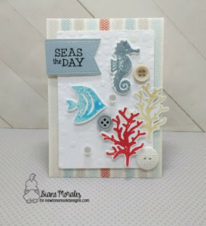Seas the Day a card by Diane Morales  Tranquil Tides Stamp Set by Newtons Nook Designs
