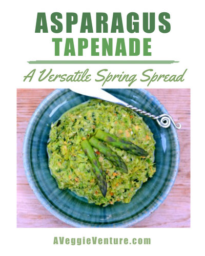 Asparagus Tapenade, another healthy vegetable appetizer ♥ AVeggieVenture.com. Fresh & Seasonal. Low Carb. Weight Watchers Friendly. Great for Meal Prep. Vegan. Gluten Free.