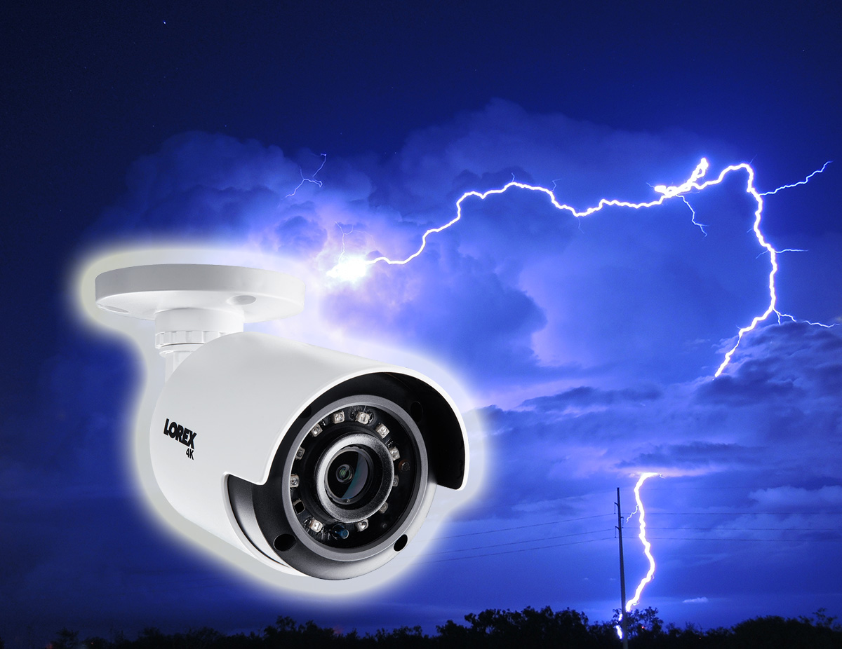 How to protect your outdoor security camera systems from lightning