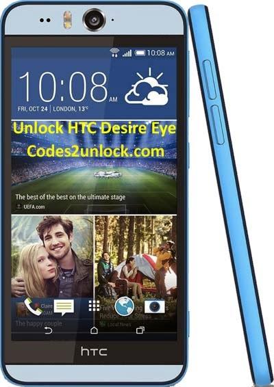 How to Unlock HTC Desire Eye instantly by Network Unlock Code