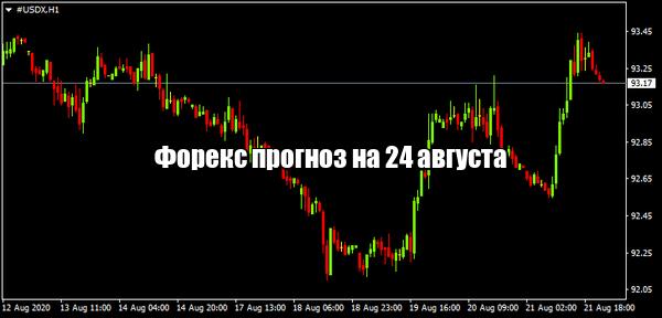 Форекс прогноз основных валютных пар на 24 августа
