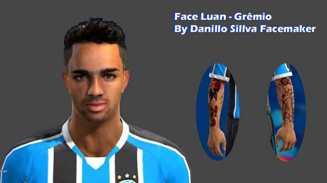 PES 2013 Luan New Face + Tattoo