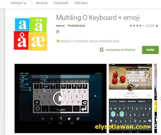 tampilan keyboard bahasa jawa Multiling O Keyboard + emoji