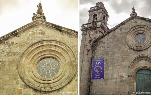 Igreja de pedra típica da Galícia, no Caminho de Santiago