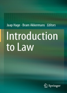 Introduction to Law PDF Books By Jaap Hage