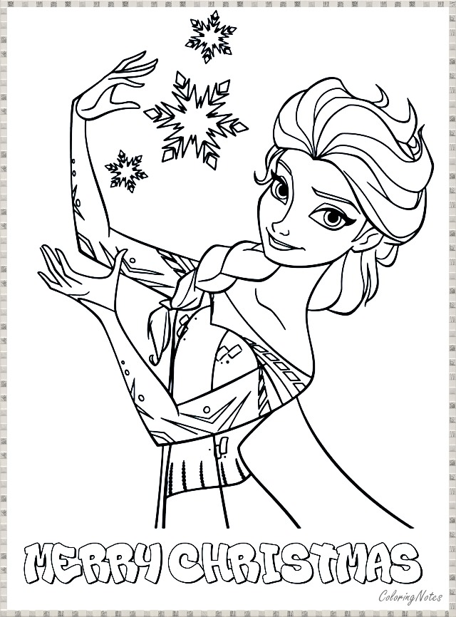 14 Cute Frozen Christmas Coloring Pages For Children Free Printable Coloring Pages For Kids Free Printable