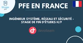 [PFE en France ] Ingénieur Système, Réseau et Sécurité - Stage de fin d'études H/F