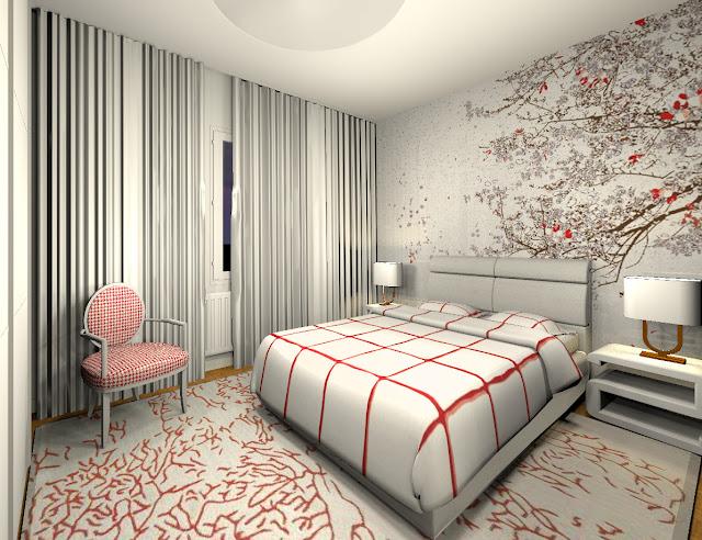 Deco Avec Papiers Peints Dans Un Appartement Moderne