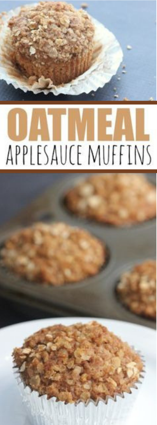 OATMEAL APPLESAUCE MUFFINS #muffins #cake