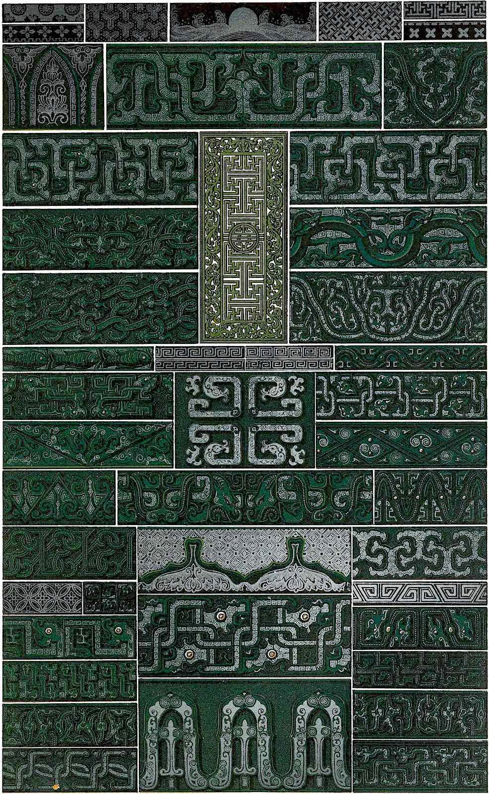 1877 ornament China green