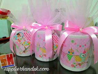 pita kain satin pada souvenir mug printing