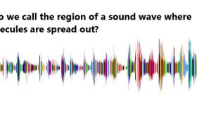 What do we call the region of a sound wave where the molecules are spread out?
