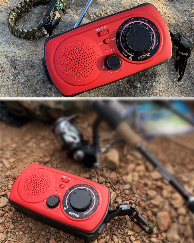 50% OFF Emergency Solar Hand Crank Portable Radio