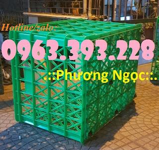 Sóng nhựa rỗng HS022, sọt nhựa 8 bánh xe, sọt nhựa đẩy hàng Be6b40ddb30e4a50131f
