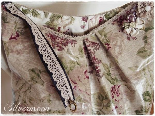 silvermoon romantische tasche aus wachstuch. Black Bedroom Furniture Sets. Home Design Ideas