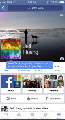 how to change your profile picture on facebook through iphone