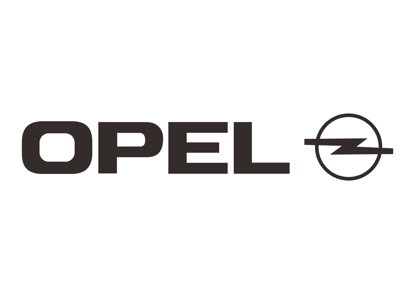 Opel Design Part 2 Black White Logo Vector Format Cdr