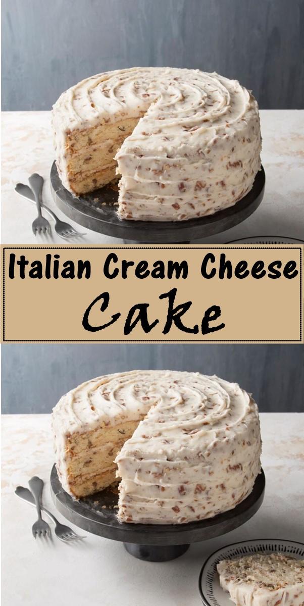 Italian Cream Cheese Cake #cakerecipes