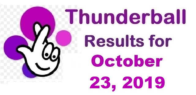 Thunderball Results for Wednesday, October 23, 2019