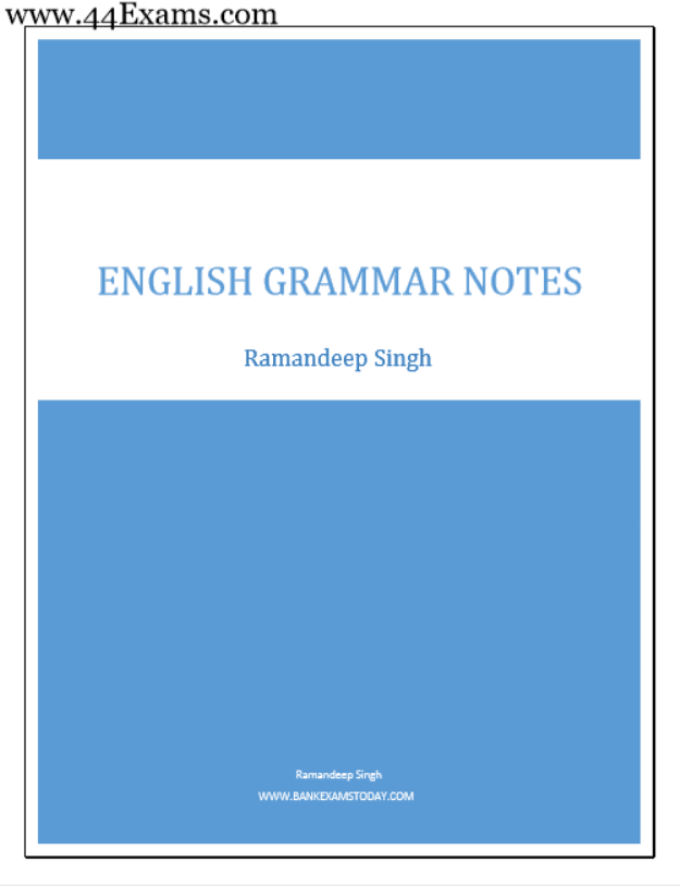 English-Grammar-Notes-by-Ramandeep-Singh-For-All-Competitive-Exam-PDF-Book
