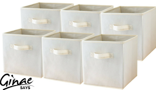 Foldable Cube Storage Container - Set of 6 Storage Basket Bins