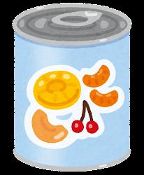 フルーツ缶詰のイラスト(フルーツミックス)