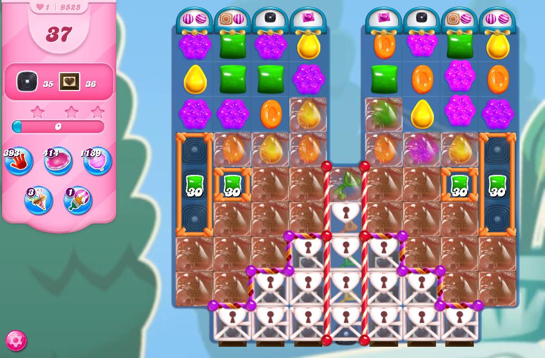 Candy Crush Saga level 9525