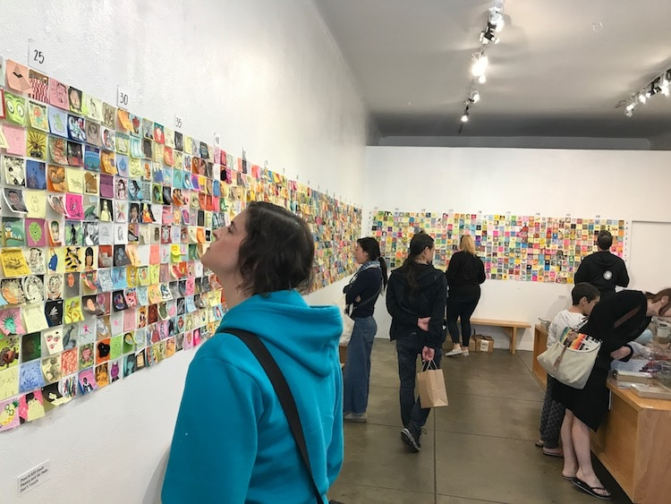 World's Premier Artists Create Affordable Art For The Giant Robot Post-It Show In Los Angeles