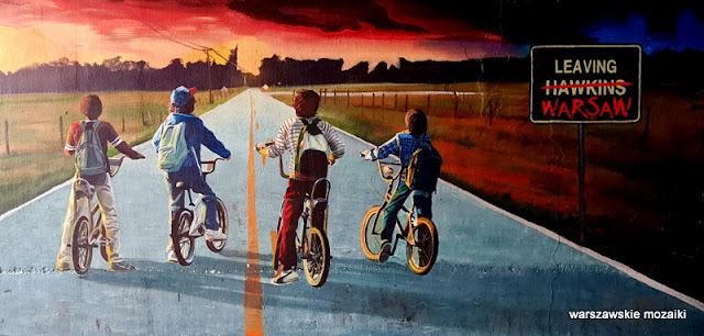 Warszawa Warsaw warszawskie murale Nowy Świat pawilony graffiti