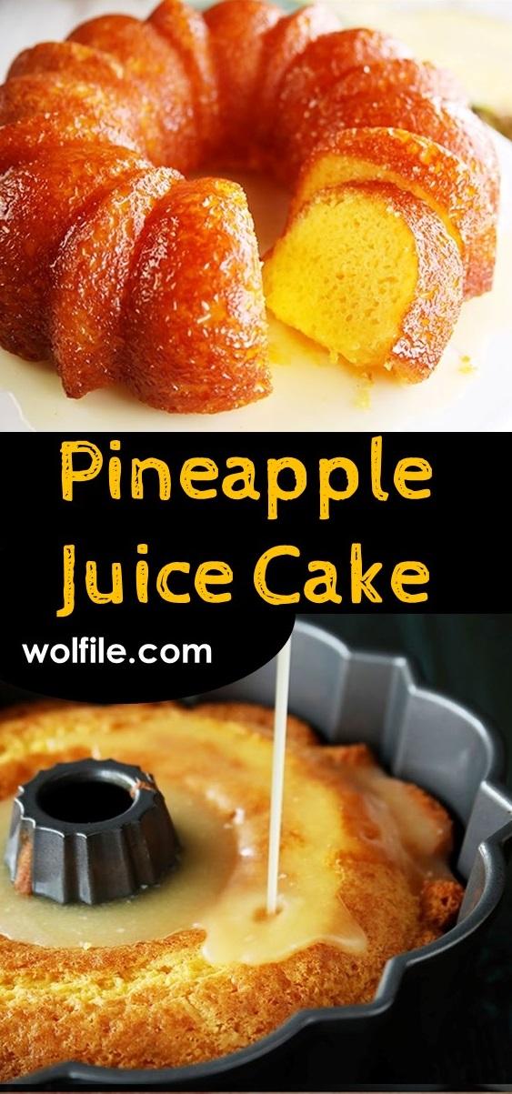 Pineapple Juice Cake #cake #healthydessert #pineapplecake #dessert