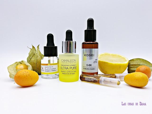 vitamina c kosei glow beauty skincare belleza cosmética dermocósmetica cuidado facial Camaleón Armonia La Chinata antimanchas
