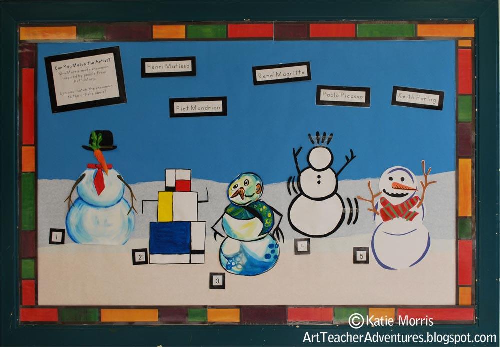 Adventures Of An Art Teacher History Snowmen Bulletin Board