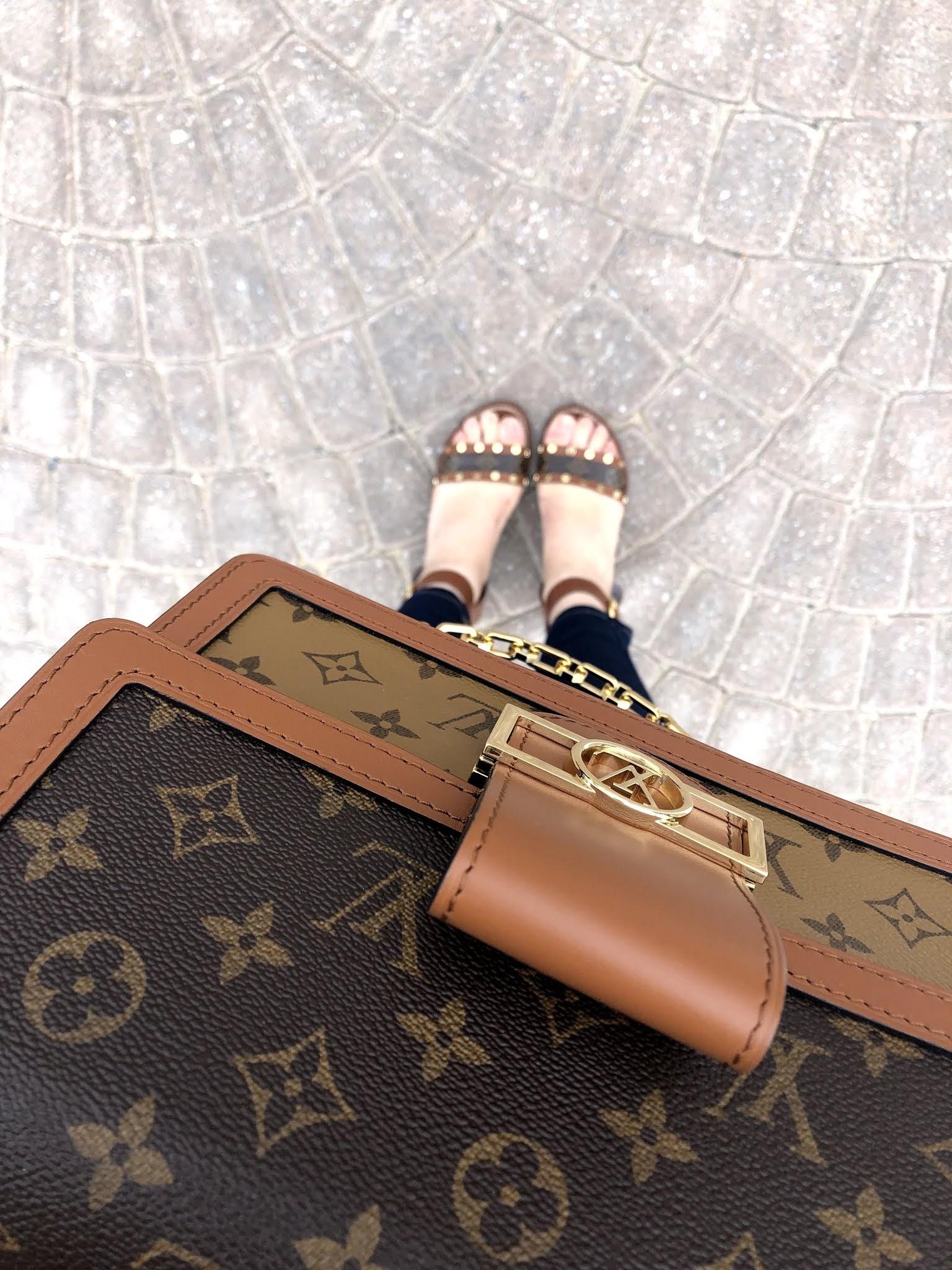 Louis Vuitton Dauphine MM handbag mod shot