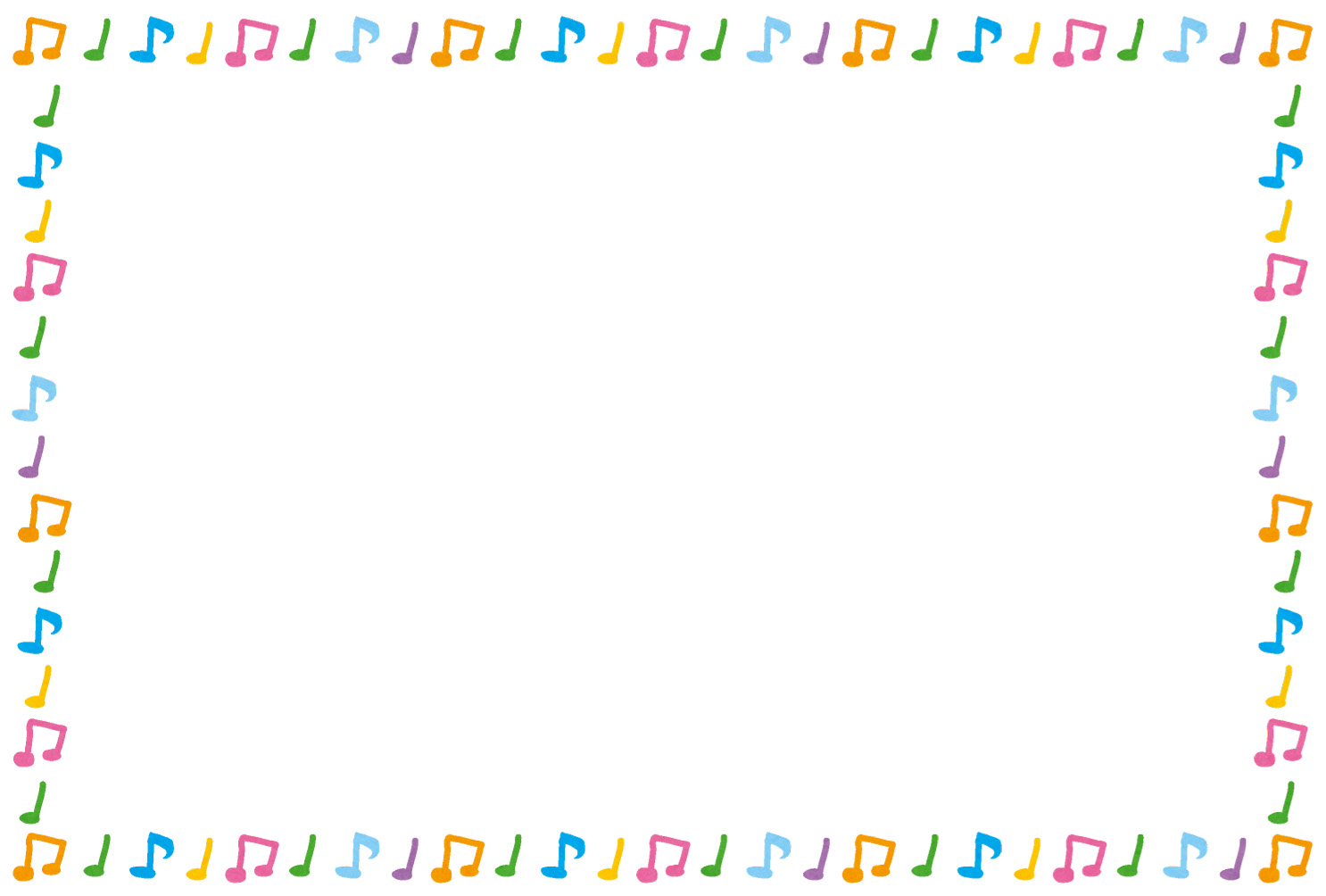 音符のイラストフレーム(枠) | かわいいフリー素材集 いらすとや
