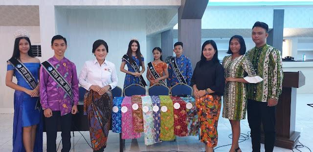 9 Seri Kain Batik Khas Bitung Diperkenalkan di Ajang Road Show Pemilihan Duta Kain Sulut