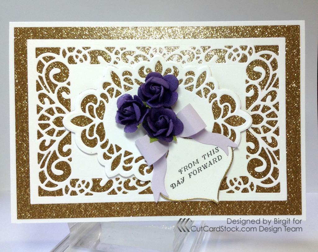 Elegant Wedding Card – CutCardStock