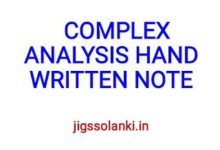 COMPLEX ANALYSIS HAND WRITTEN NOTE BY PI AIM INSTITUTE