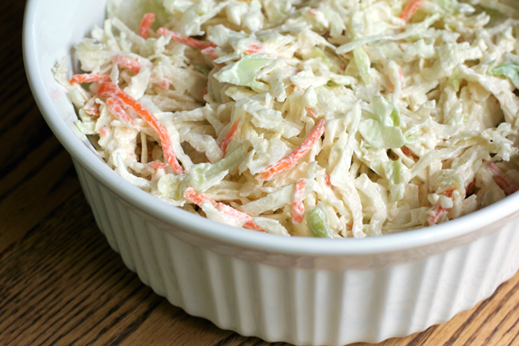 Easy Coleslaw for a Crowd || A Less Processed Life