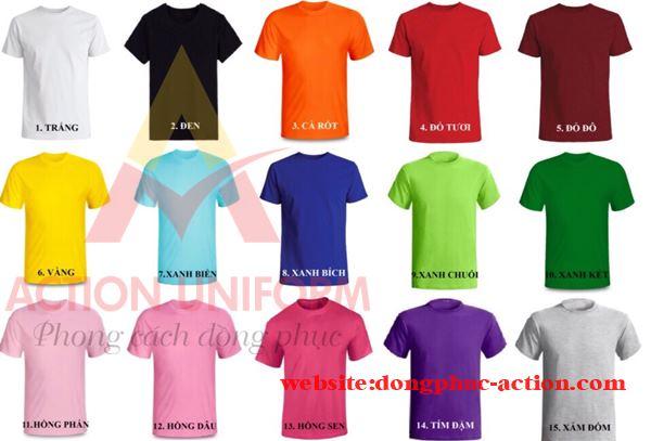 Màu sắc áo thun