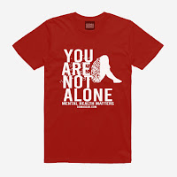 GOMAGEAR You Are Not - Mental Health Matters Unisex Tee - Red