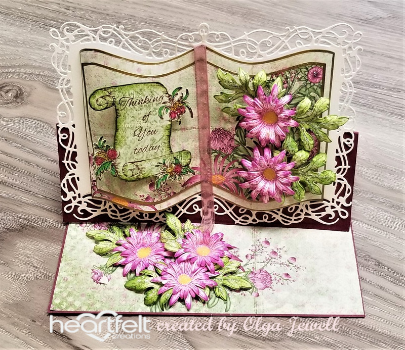 Heartfelt Creations Fanci-Fold Pocket /& Accents Die Corner Lace HCD1-7246