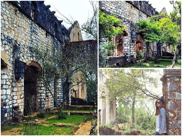 Beautifully mystical ancient monastery oversleeping in the middle of Sapa mountain forest