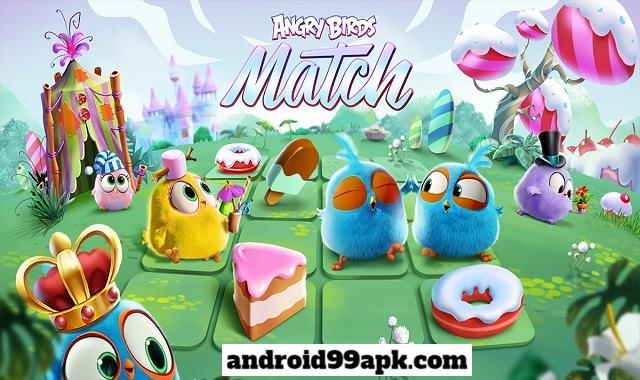 لعبة Angry Birds Match 3 v4.2.0 مهكرة (بحجم 118 MB) للأندرويد