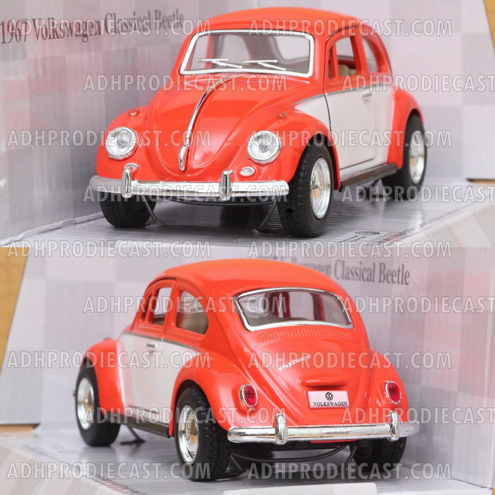 Miniatur Mobil VW Beetle / Kodok 1967 Two Colors (Orange-32K)